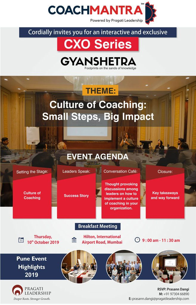 Culture of coaching event 2019